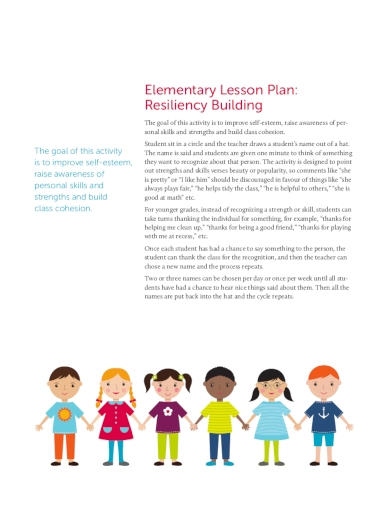 mental health elementary lesson plan