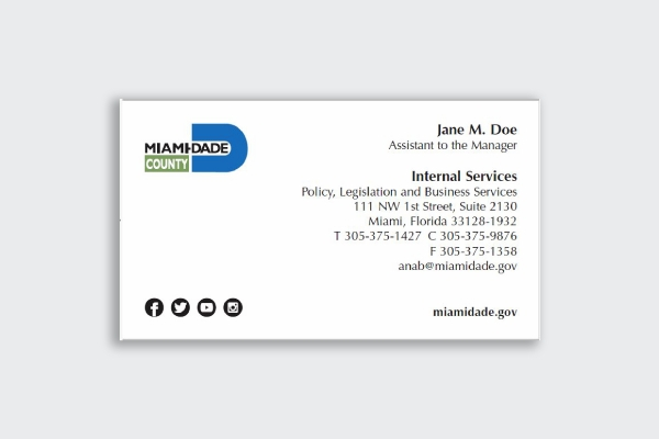 miami dade county business card