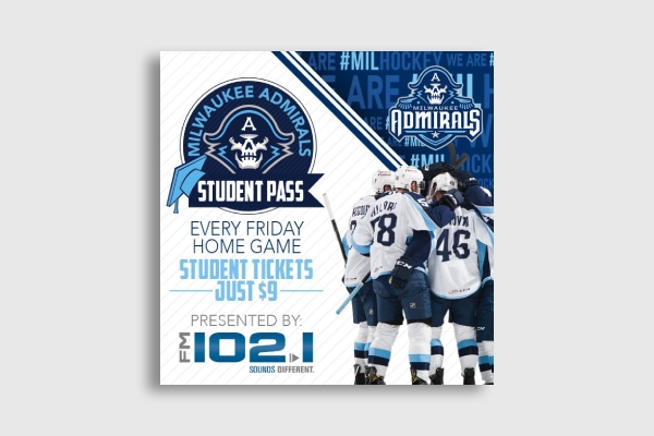 milwaukee admirals sports ticket 1