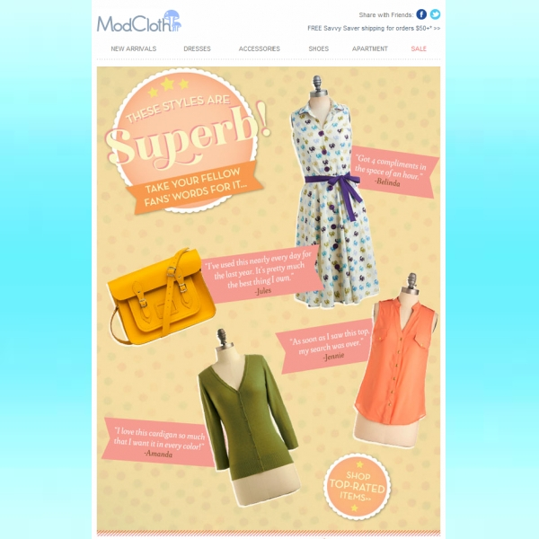 modcloth email newsletter