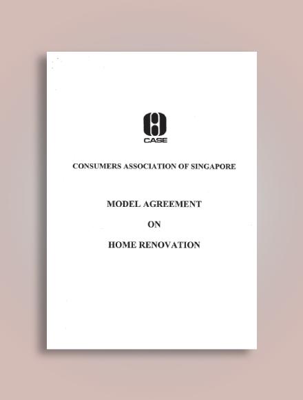 model agreement on home renovation