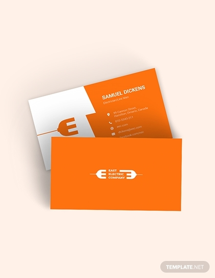 modern electrician business card1