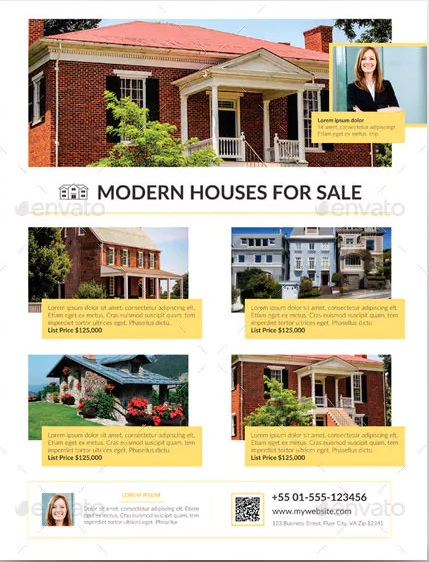 modern house for sale advertisement template1