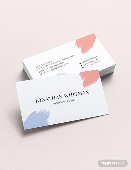modern painter business card