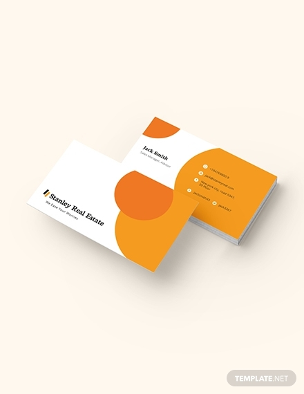 modern real estate business card