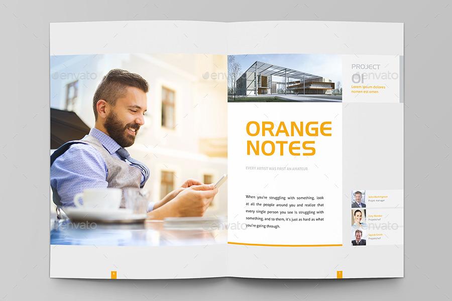 modern real estate listing brochure template