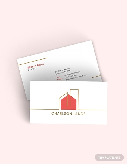 modern realtor business card