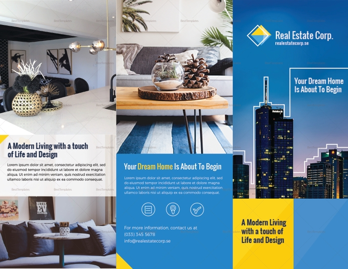 modern real estate property brochure template