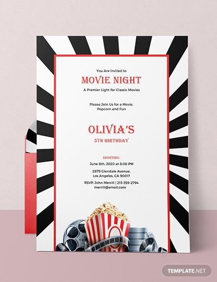 movie night invitation template