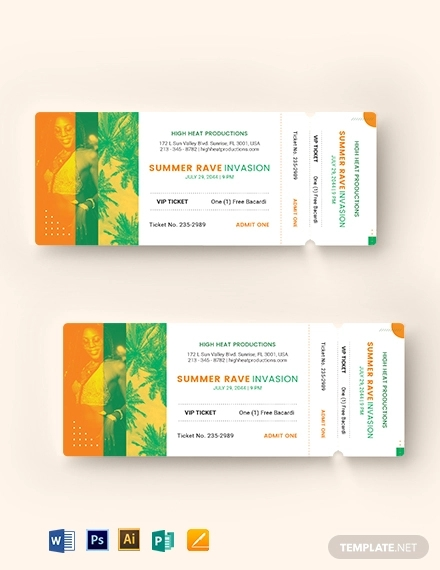 15+ VIP Event Ticket Designs & Examples - PSD, AI | Examples