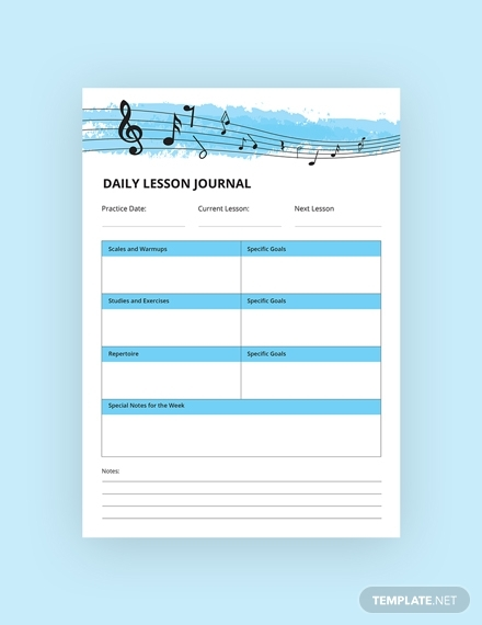 music journal notebook m1x 3