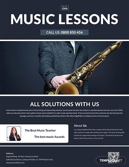 music learning center flyer