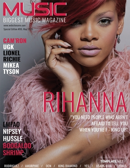 music magazine cover