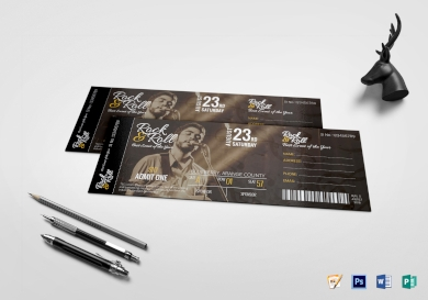 musical concert ticket