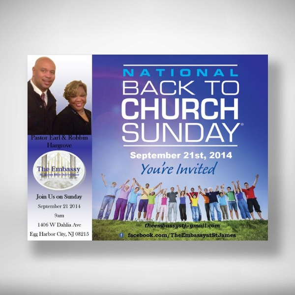 national back to church sunday invitation