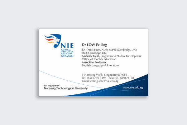 national institute of education business card