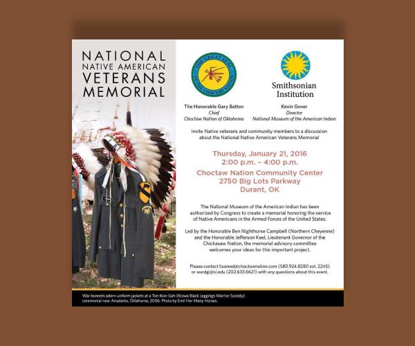 national native american veterans memorial invitation1