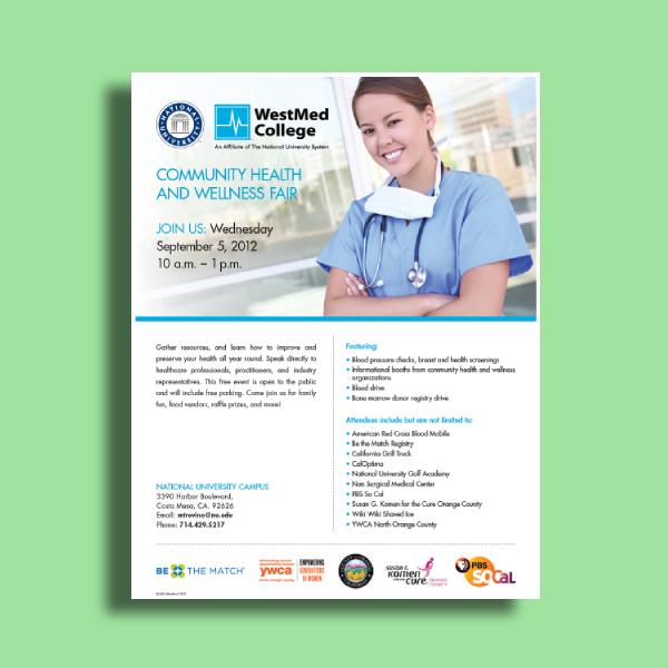 national university health and wellness fair flyer