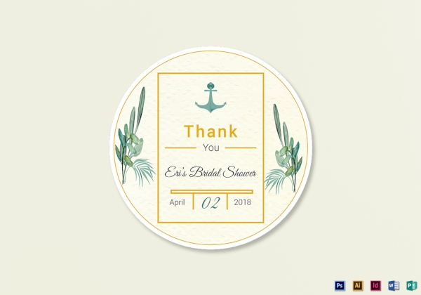 nautical wedding label