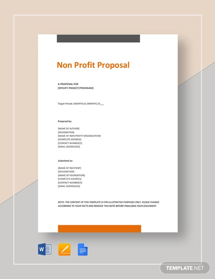 Non-Profit-Proposal-Template Sample Proposal Letter Template Organization on sample sponsorship letter template, sample cancellation letter template, sample cover letter templates, sample self introduction letter, sample research proposal title, sample resume letter template, sample cleaning bid proposal template, sample event proposal template, sample request for proposal, sample sponsorship proposal template, sample quotation letter template, sample transmittal letter template, sample job letter template, sample acknowledgement letter template, sample friendly letter format template, sample research paper proposal template, sample application letter template, sample appointment letter template, sample thank you letter template, job promotion proposal template,