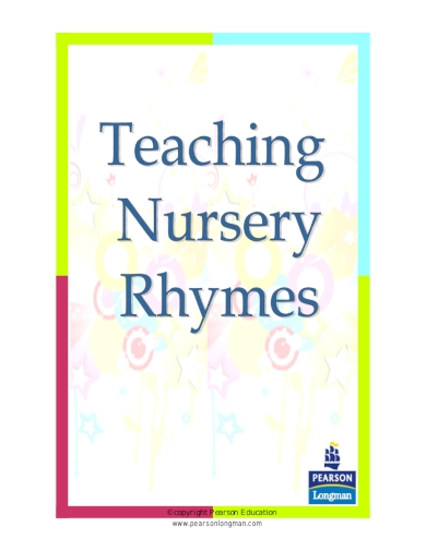 nursery rhymes kindergarten lesson