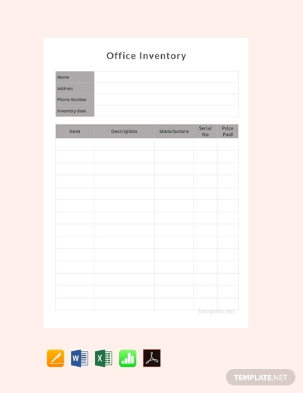 office inventory