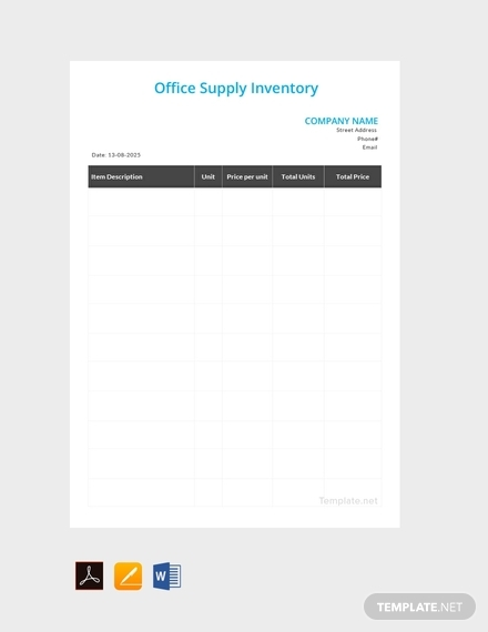 office supply inventory