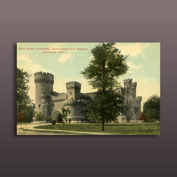 ohio state university vintage postcard