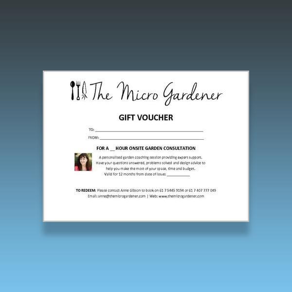 onsite garden consultation gift voucher