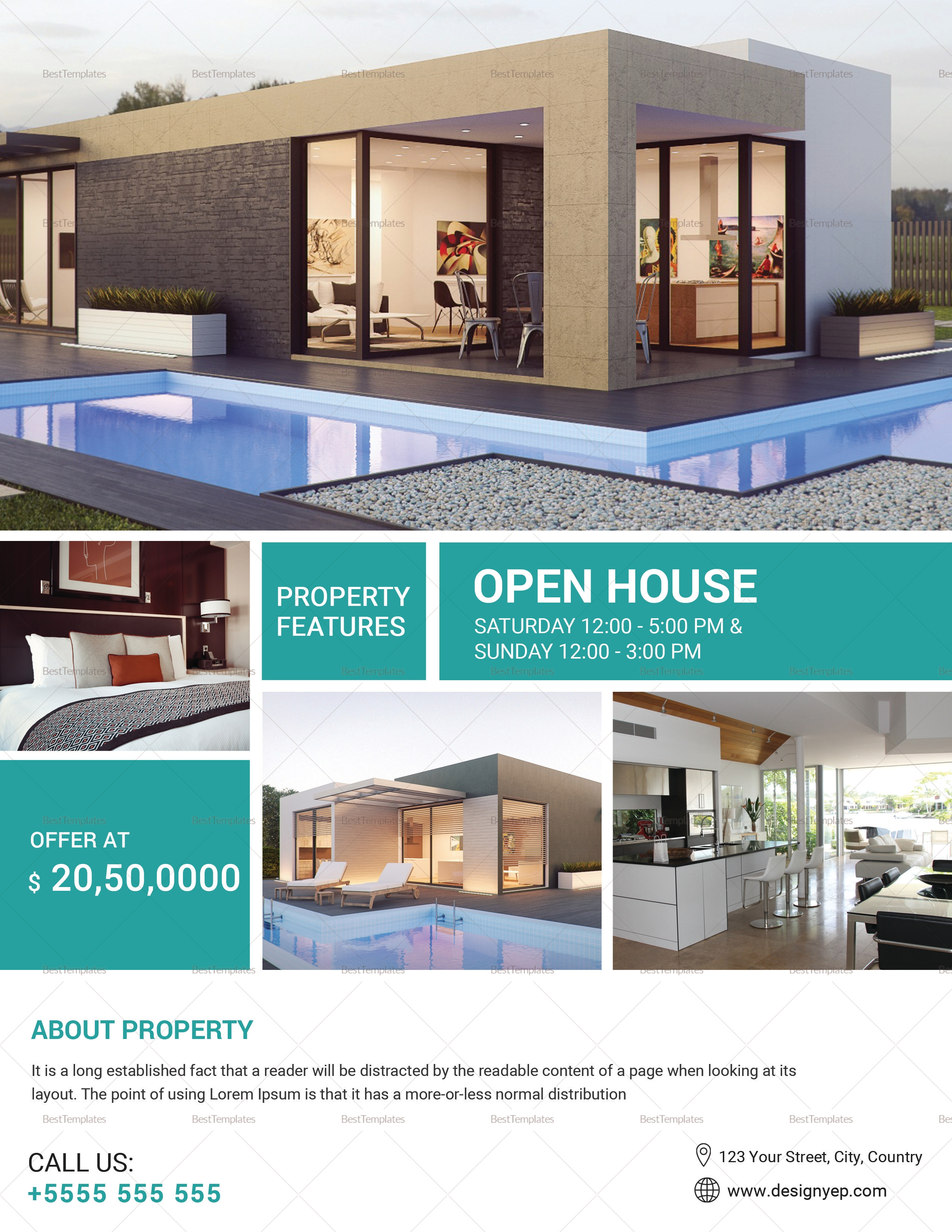 open house for sale advertisement template