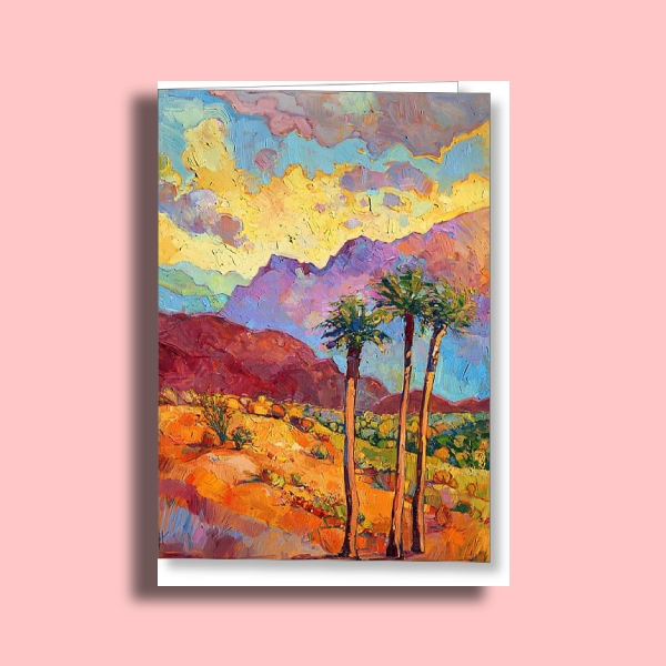 painted greeting card