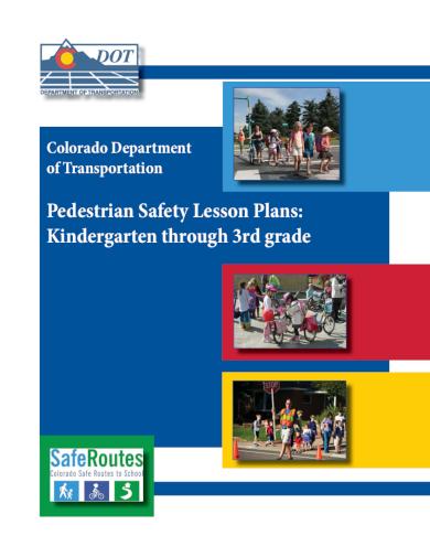 pedestrian safety kindergarten lesson plan