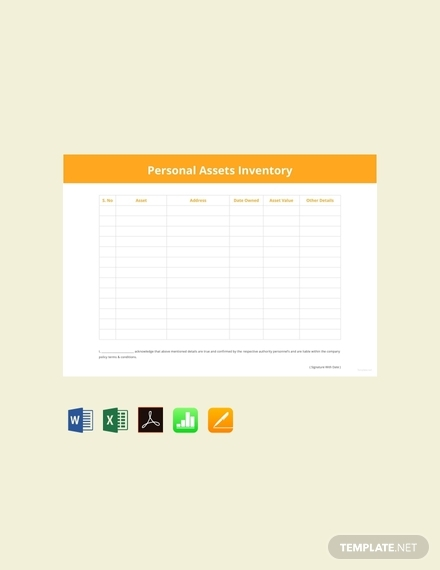 personal asset inventory