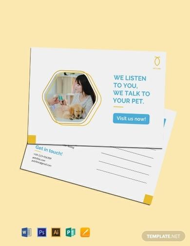pet clinic postcard 1