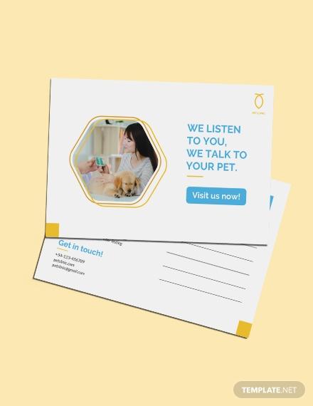 pet clinic postcard