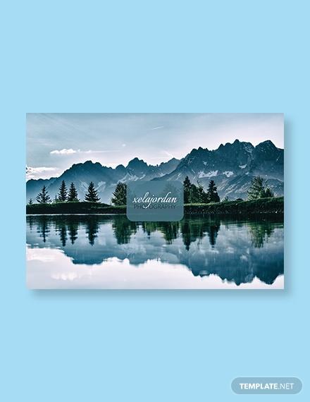 photographer business postcard