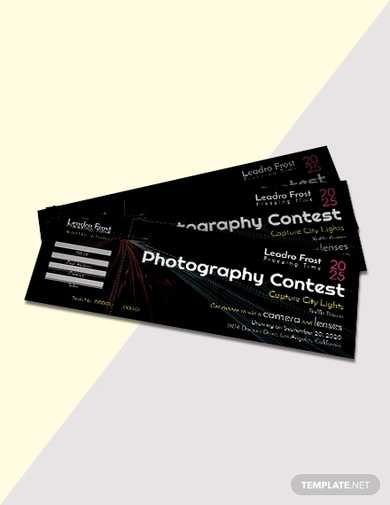 photography raffle ticket