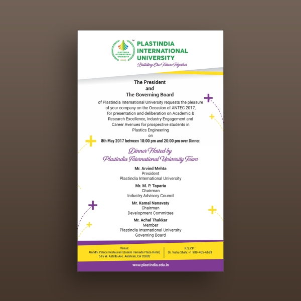 plastindia international university invitation