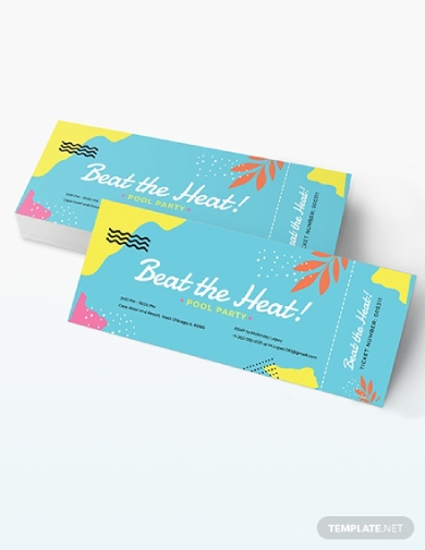 pool party ticket