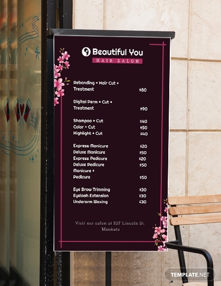 price list digital signage
