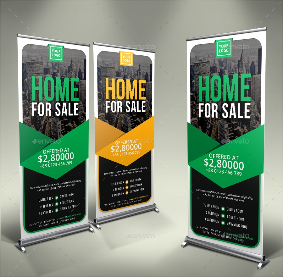print ready real estate rollup banner