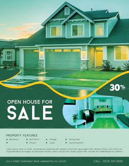 printable house for sale advertisement template1