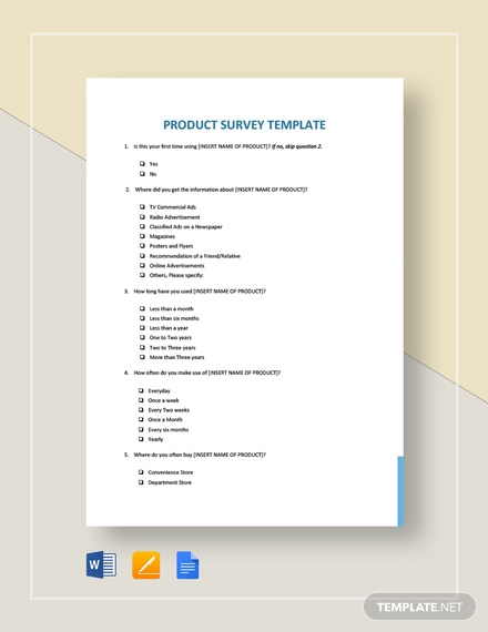 product survey template1
