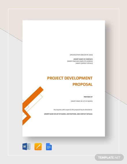 project development proposal template