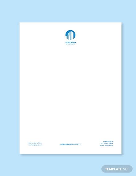 property dealer letterhead template