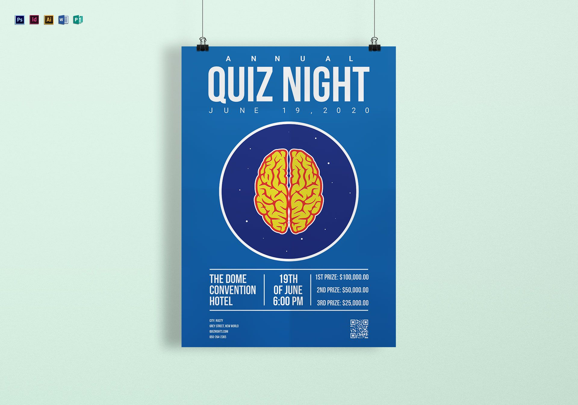 quiz night poster template