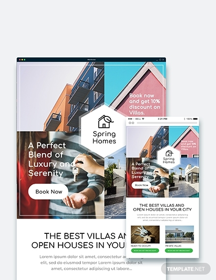 real estate ads email template