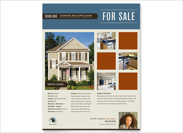 real estate ads flyer template