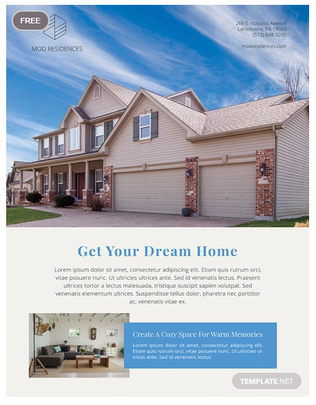 real estate ads poster template1