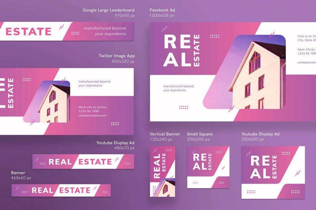 real estate agency banners pack 1024x682